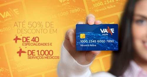 Foto mostrando um cartão de desconto de saúde